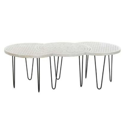 "Lot de 3 tables gigognes ""Mana"" en bois de manguier (disponible en mars)"
