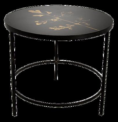 """Table d'appoint en métal noir """"Brees"""""""