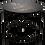 "Thumbnail: Table d'appoint en métal noir ""Brees"""