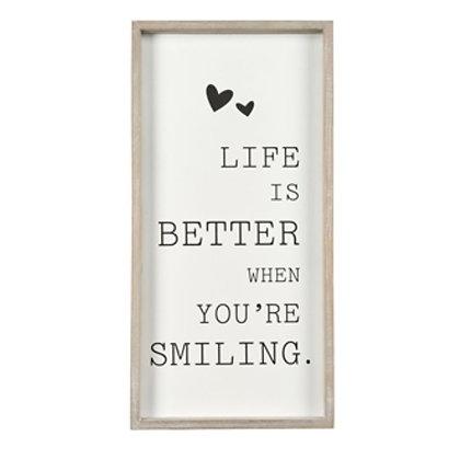 """Plaque décorative """"Smile"""""""