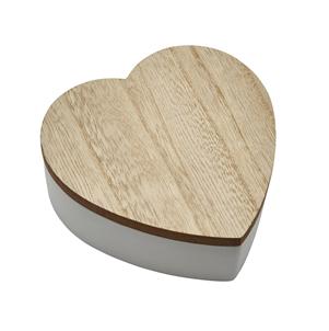 Boite coeur en bois