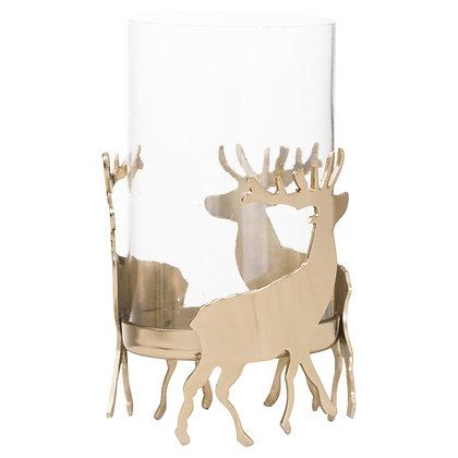 """Lanterne en verre """"Golden Deer"""""""
