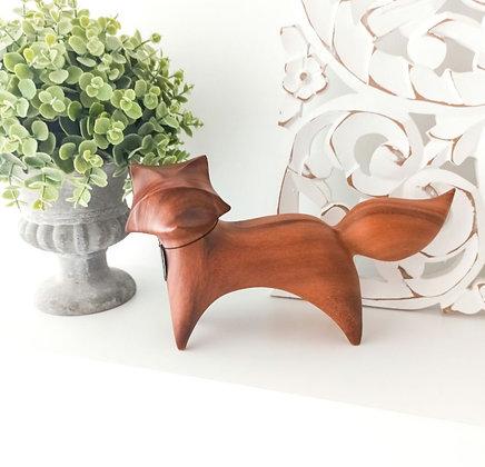 """Renard """"Kurama"""" décoratif en bois"""