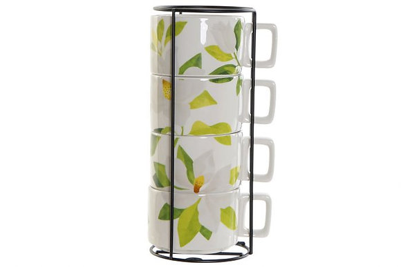 "Lot de 4 tasses ""Magnolias"""