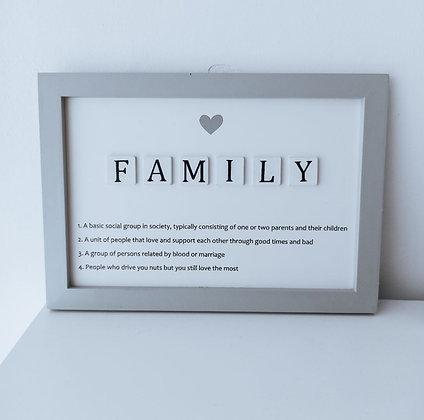 Pancarte en bois «Family»