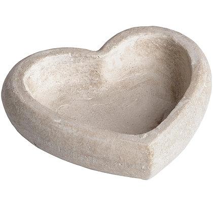 Grand vide poche cœur en ciment