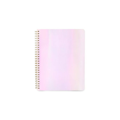 Cahier iridescent rosé