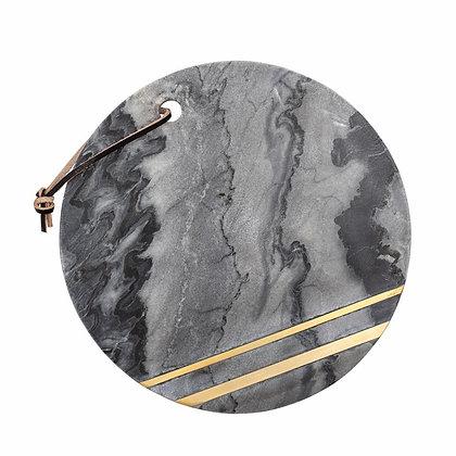 Planche à découper en marbre noir et doré