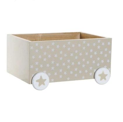 Boîte à jouets à roulettes