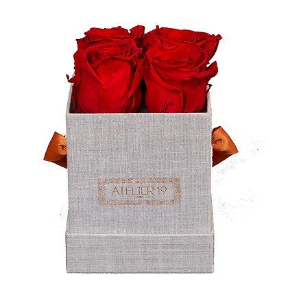 """Bouquet de roses éternelles """"4 grey"""""""