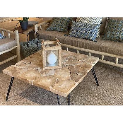 Table basse en teck véritable