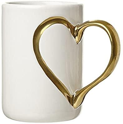 Mug poignée cœur doré
