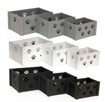 Set de 3 boîtes de rangement pour animaux (précommande)