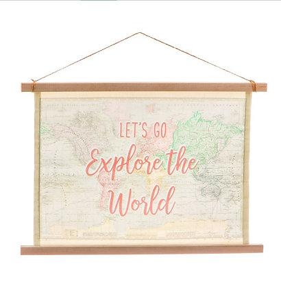 Toile rétro décorative «Explore»