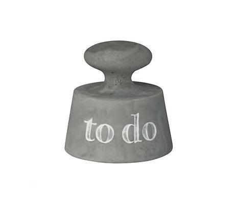 """Presse papiers """"To do"""" en ciment"""
