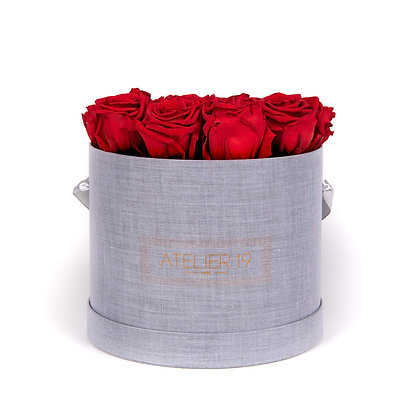 """15 roses éternelles """"Grey"""""""