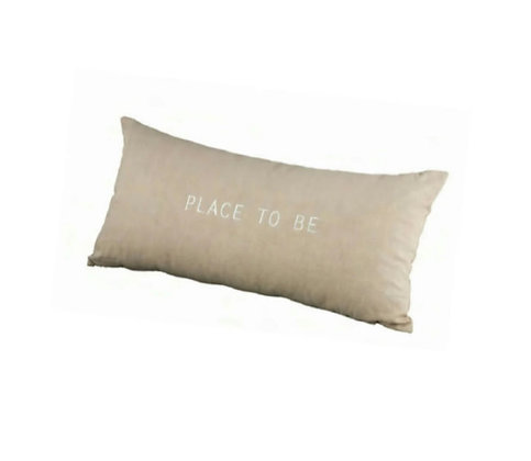 """Coussin beige """"Place to be"""""""