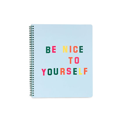 "Grand cahier ""Be nice"""