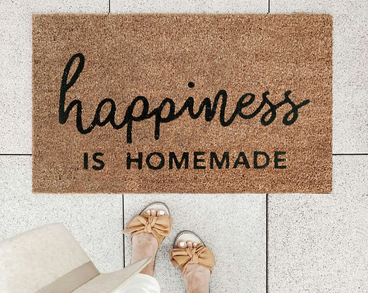 """Paillasson """"Hapiness is homemade"""""""