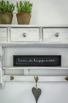 "Plaque décorative ""love & happiness"" (précommande)"