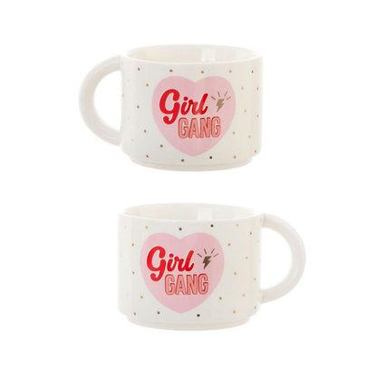 "Lot de deux mugs ""Girl gang"""