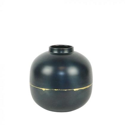 Vase noir liseré doré