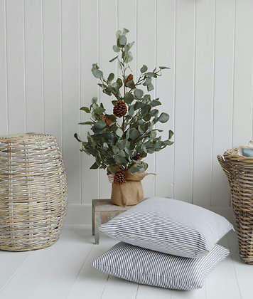 Eucalyptus en sac et pommes de pin