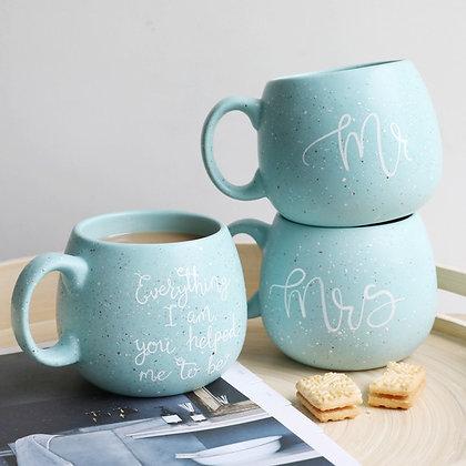 "Lot de mugs ""Mr & Mrs Blue"""