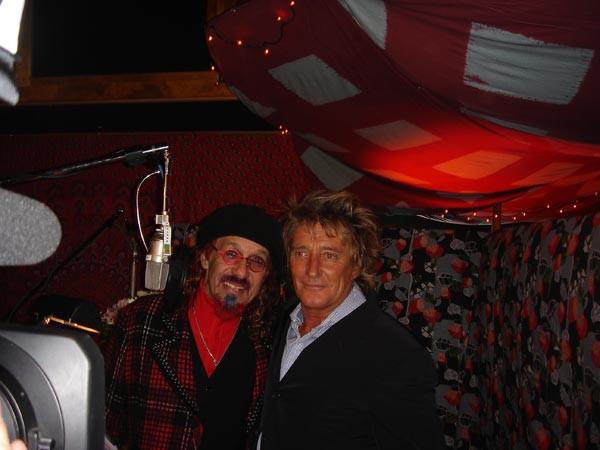 Mark Hudson and Rod Stewart