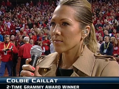 Colbie Caillat performed the National Anthem at World Series 2013