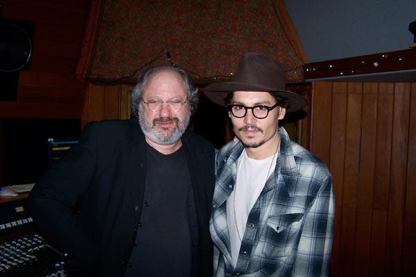 Johnny Depp and Hal Wilner