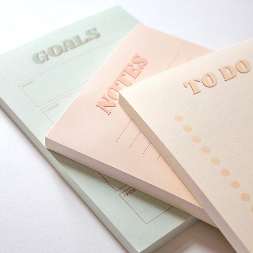 Minjon Muistilehtiöt 3-pack
