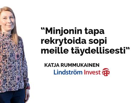 """Lindström Invest: """"Minjonilla on tosi avoin ja suora ote!"""""""