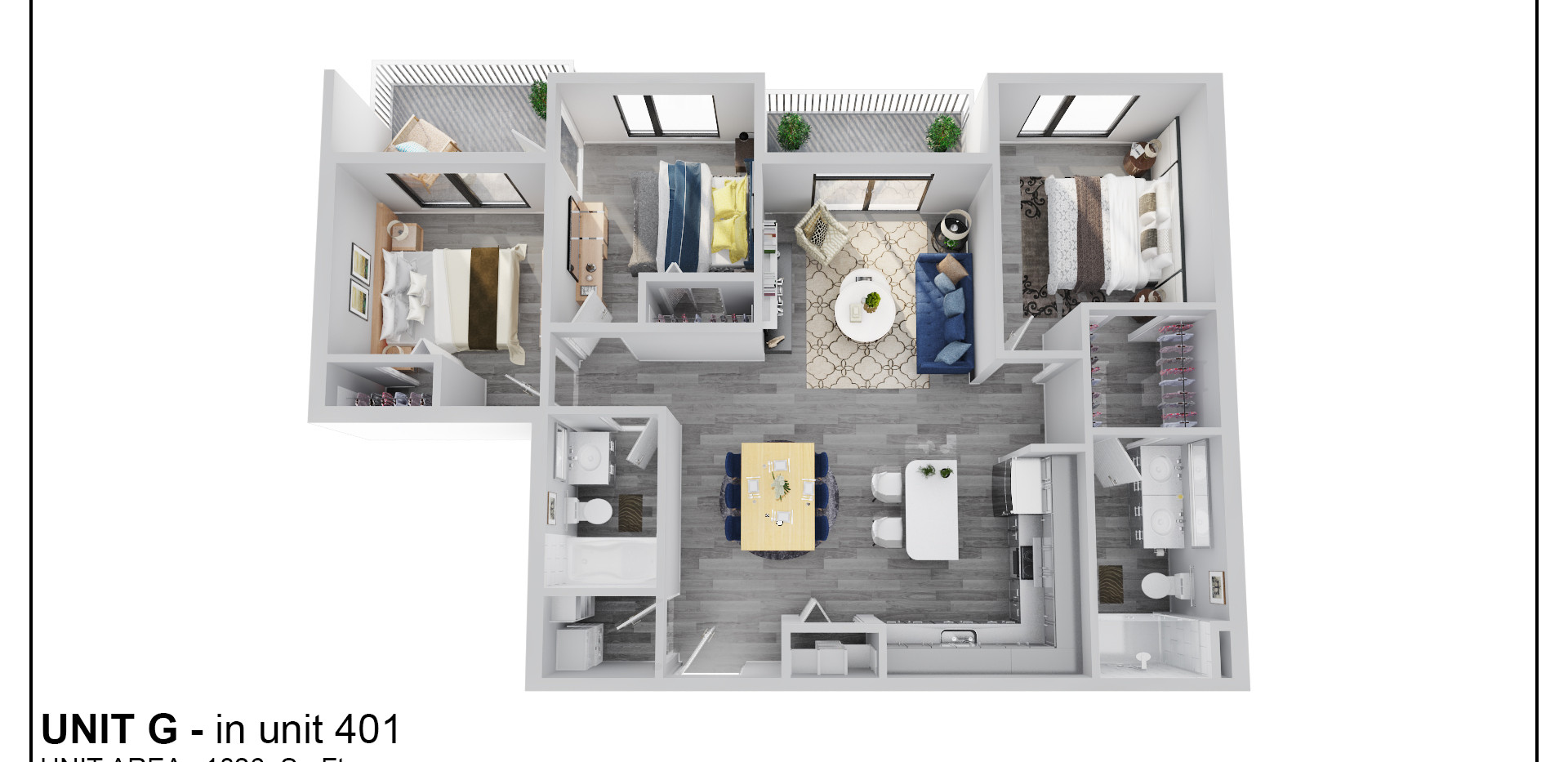 Floor Four - Unit G - 401