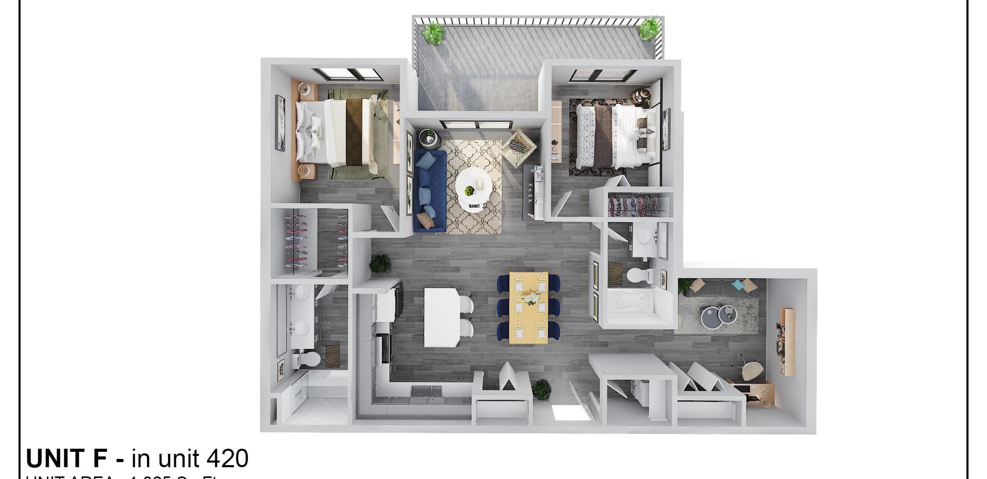 Floor Four - Unit F - 420
