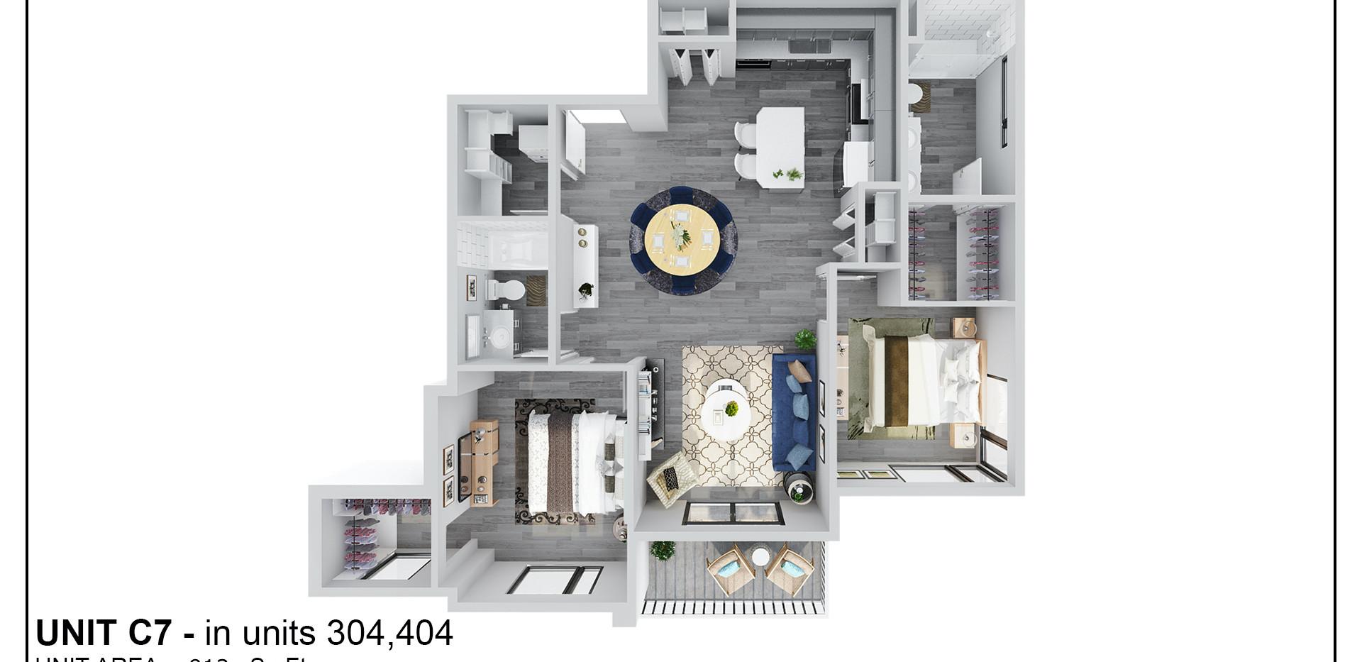 Floor Three - Unit C7 - 304