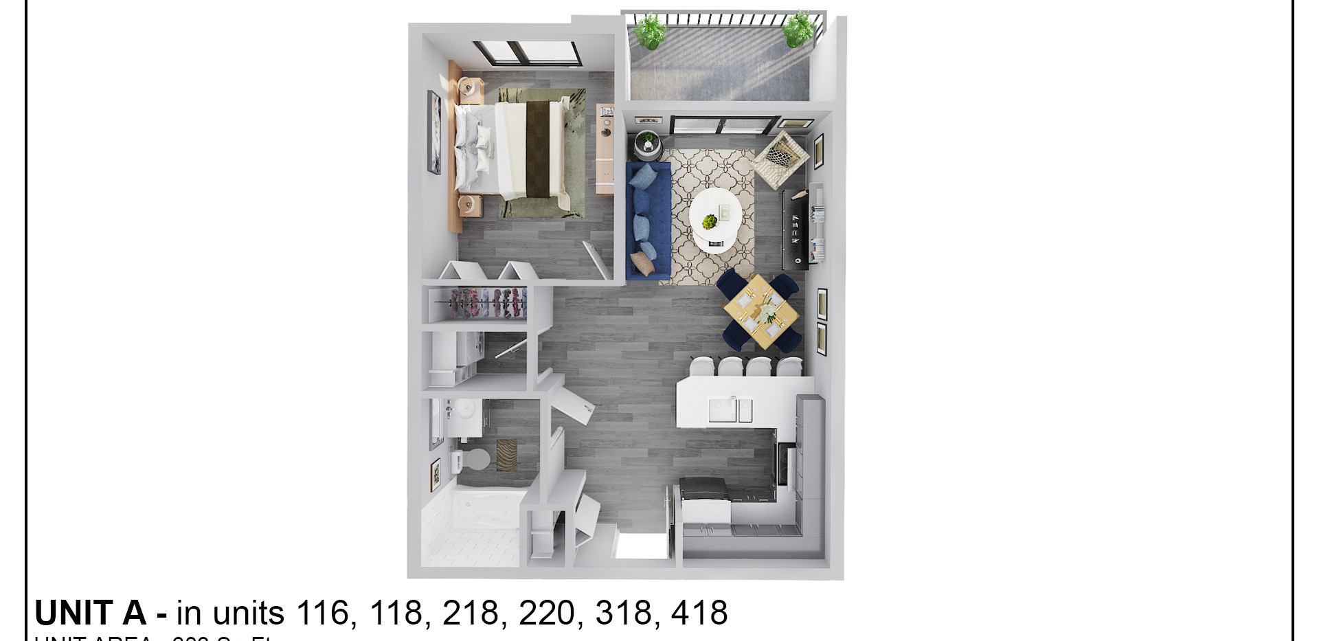 Floor Two - Unit A/AB - 218 & 220