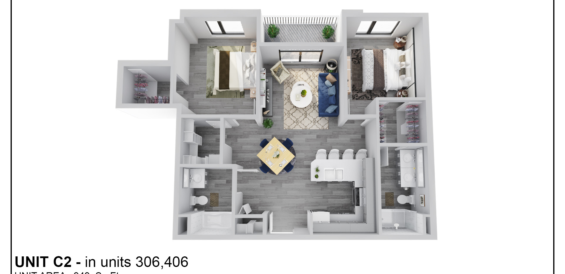 Floor Three - Unit C2 - 306