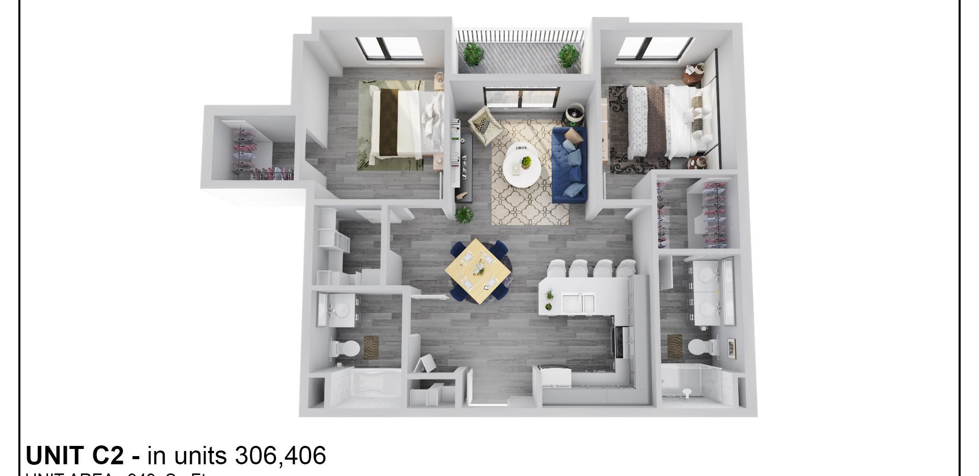 Floor Four - Unit C2 - 406