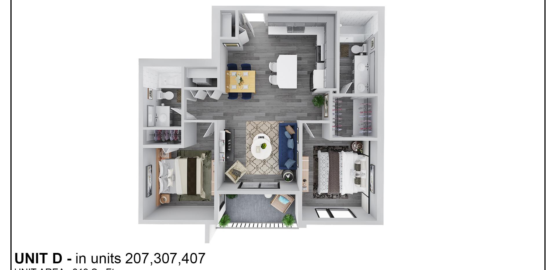 Floor Two - Unit D - 207
