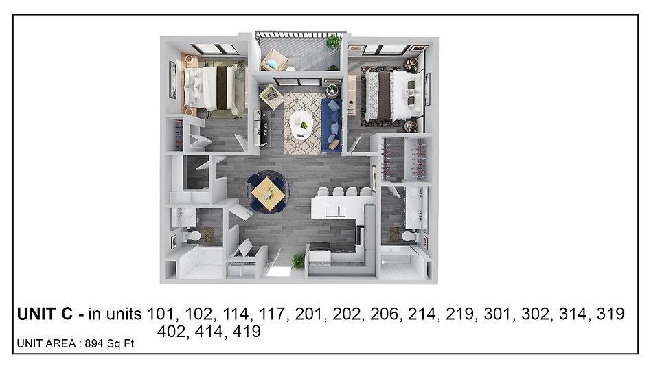Unit C - 101, 102, 114, 117, 201, 202, 2