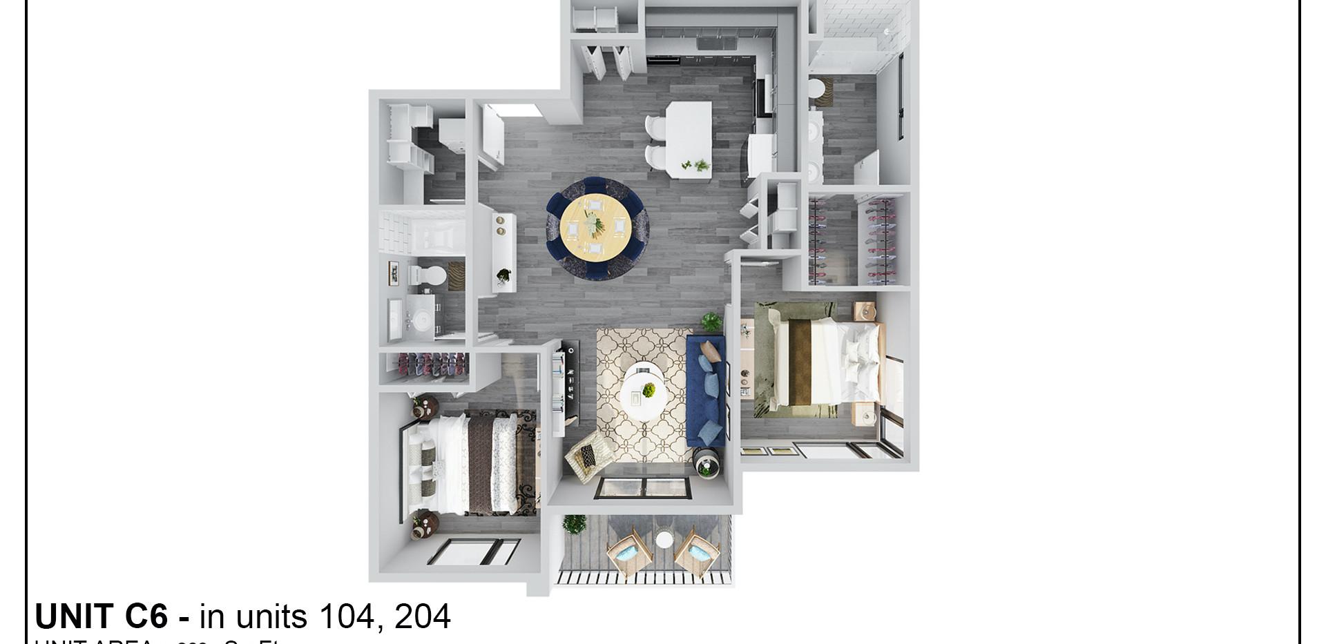 Floor Two - Unit C6 - 204