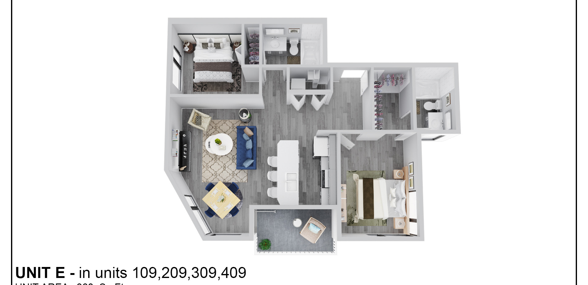 Floor Two - Unit E - 209