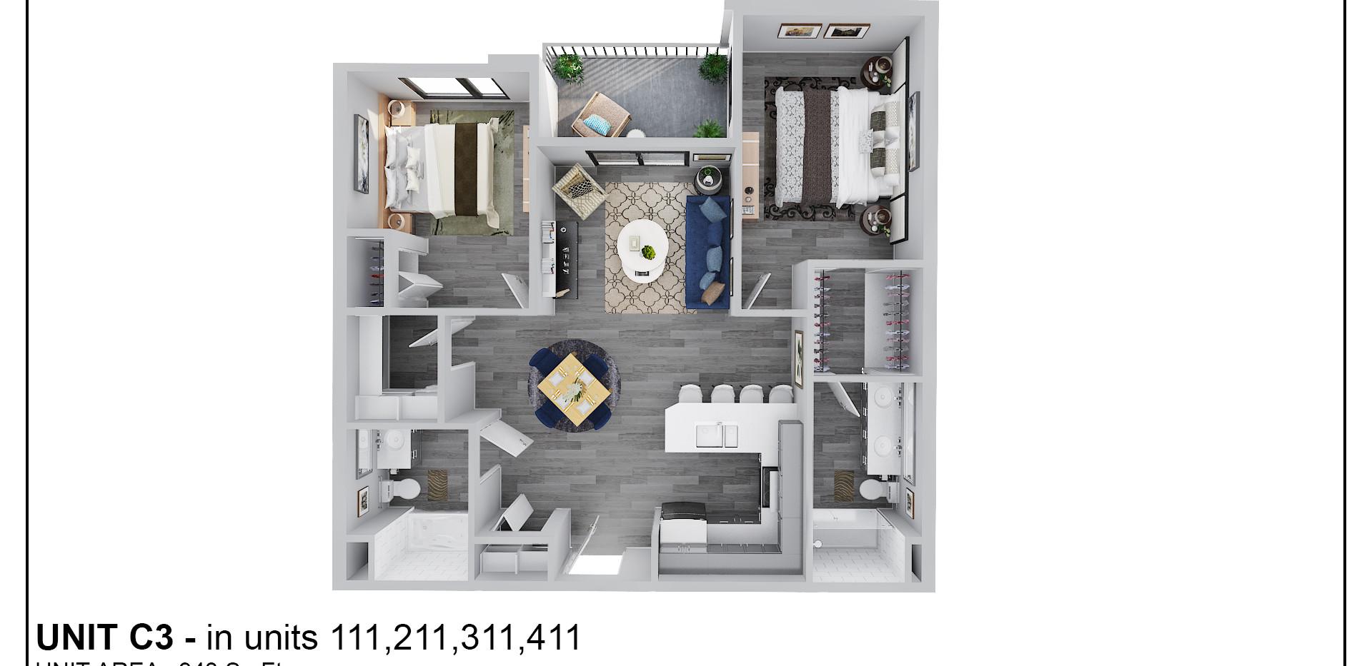 Floor Two - Unit C3 - 211