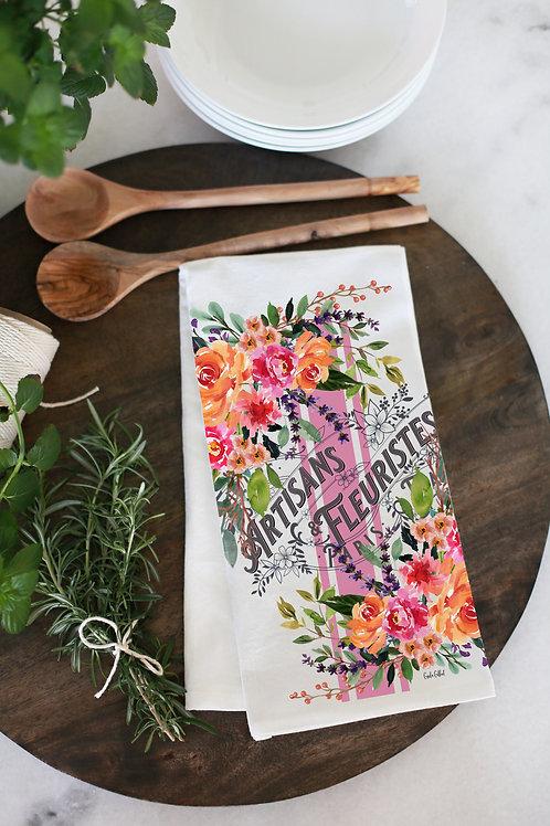 French vintage inspired Flower market label