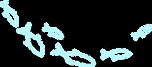 School of Fish - Aquamarine Lineart