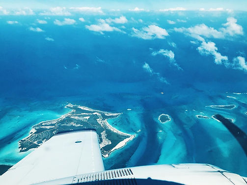 Window view - Private plane to Exuma, Air Flight Charters