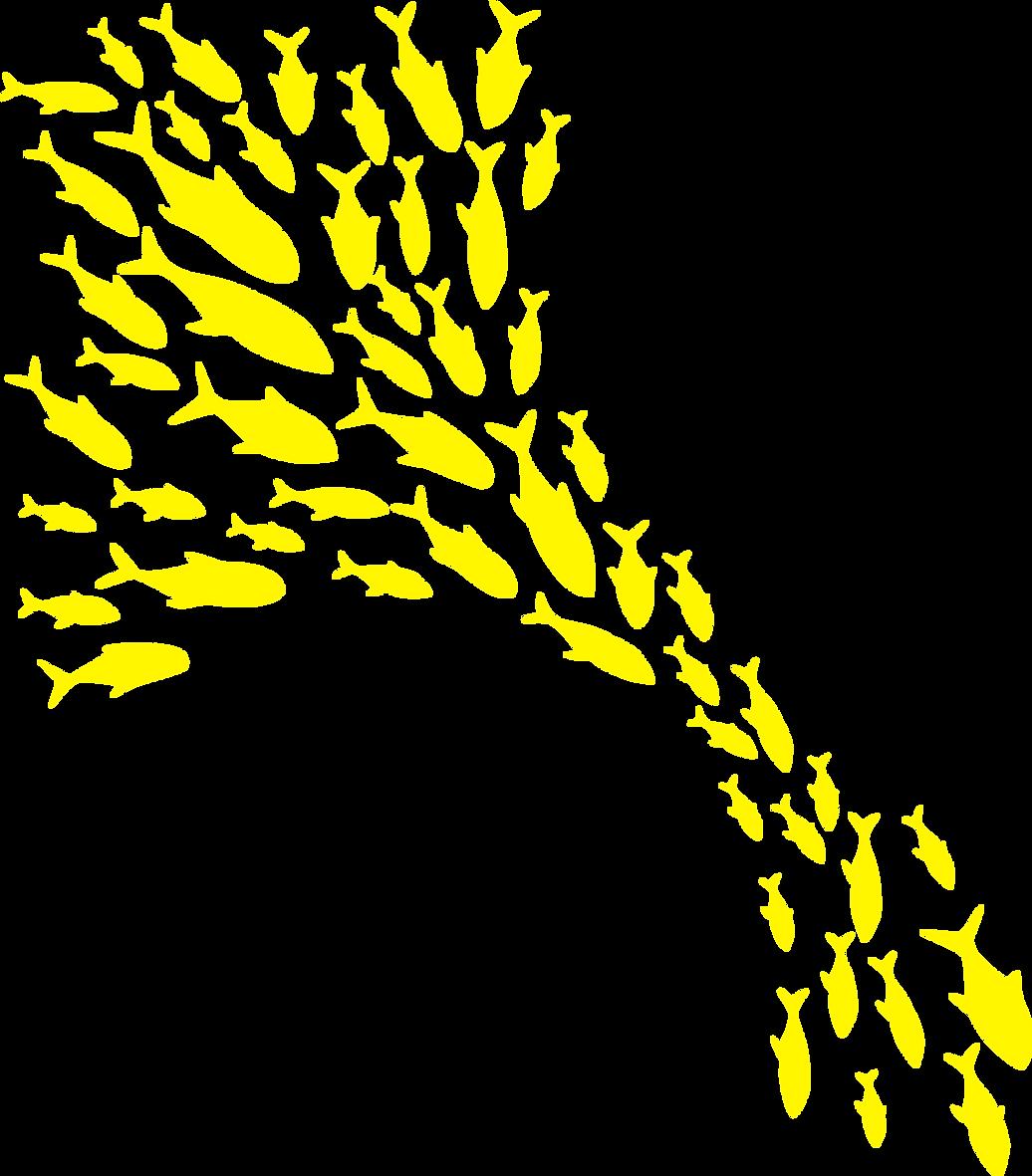 School of Fish - Yellow