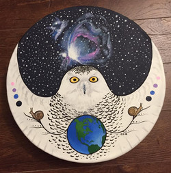 Snowy Owl with Orion, Earth & Snails