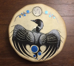 Loon and Moon Drum